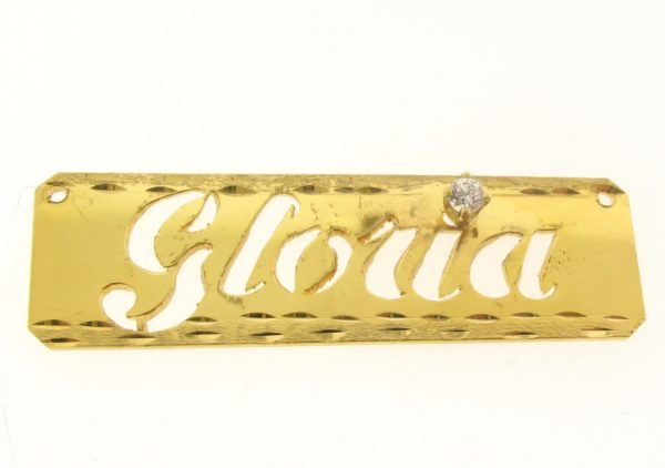# 9627 - 14K Gold Filled Name Plate For Necklace - Gloria