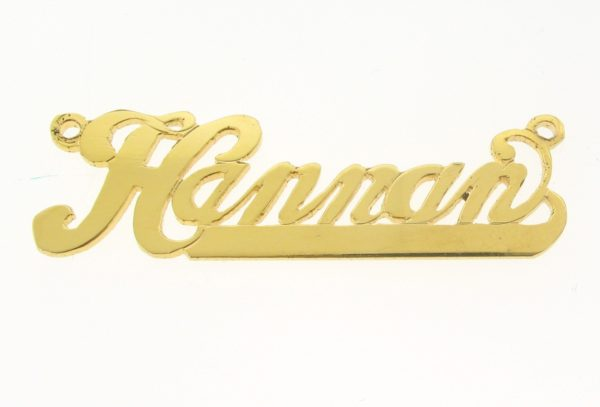 # 9628 - 14K Gold Filled Name Plate For Necklace - Hannan