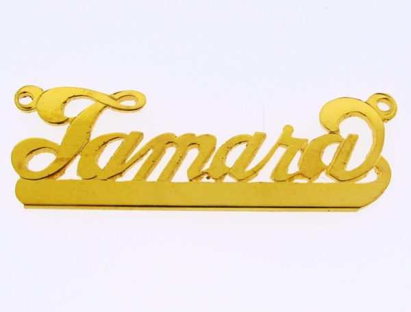 # 9629 - 14K Gold Filled Name Plate For Necklace - Tamara
