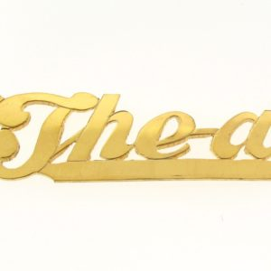 # 9631 - 14K Gold Filled Name Plate For Necklace - Thea