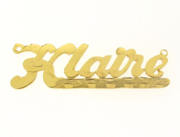 # 9632 - 14K Gold Filled Name Plate For Necklace - Klaire