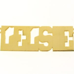 # 9635 - 14K Gold Filled Name Plate For Necklace - Lelsie