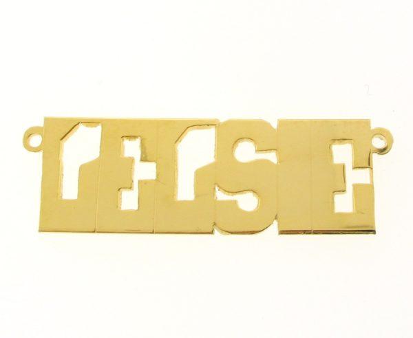 # 9635 - 14K Gold Filled Name Plate For Necklace - Lelsie