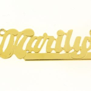 # 9637 - 14K Gold Filled Name Plate For Necklace - Marily