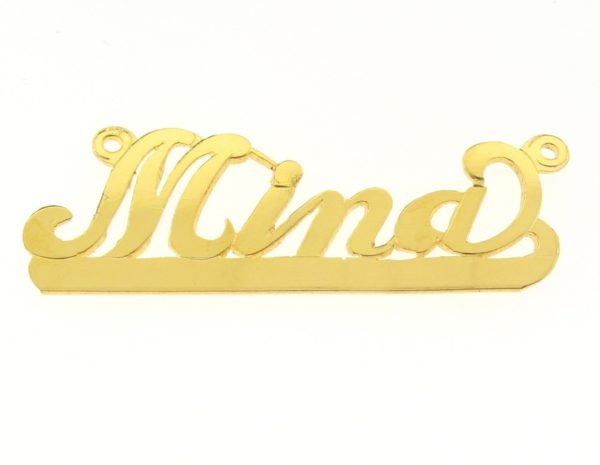 # 9638 - 14K Gold Filled Name Plate For Necklace - Mina