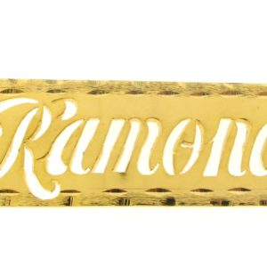 # 9640 - 14K Gold Filled Name Plate For Necklace - Ramona
