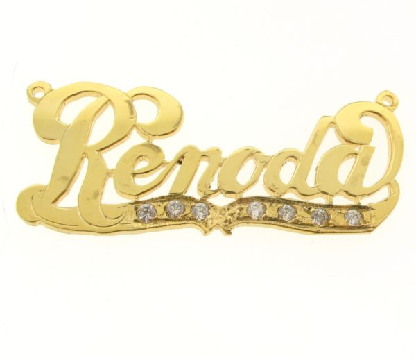 # 9642 - 14K Gold Filled Name Plate For Necklace - Renoda