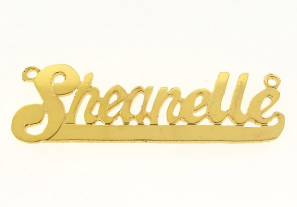 # 9646 - 14K Gold Filled Name Plate For Necklace - Sheanelle