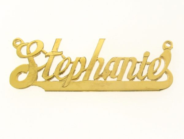 # 9647 - 14K Gold Filled Name Plate For Necklace - Stephanie