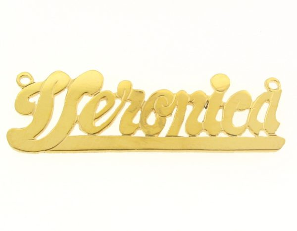 # 9648 - 14K Gold Filled Name Plate For Necklace - Veronica