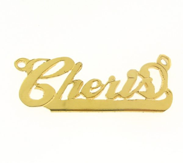 # 9649 - 14K Gold Filled Name Plate For Necklace - Cheris