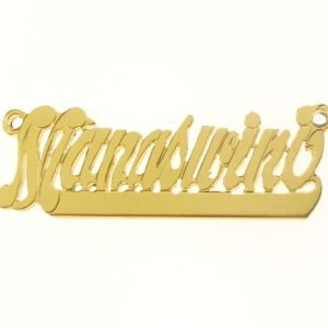 # 9650 - 14K Gold Filled Name Plate For Necklace - Manaswini