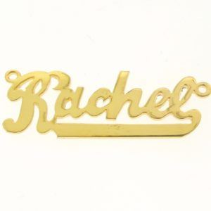 # 9651 - 14K Gold Filled Name Plate For Necklace - Rachel