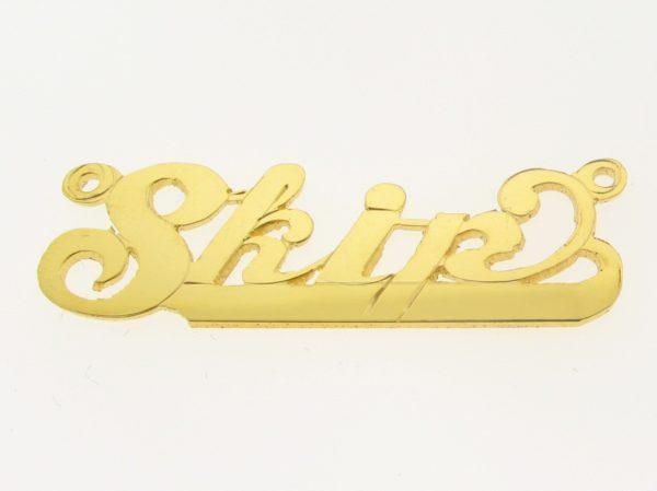 # 9652 - 14K Gold Filled Name Plate For Necklace - Skip