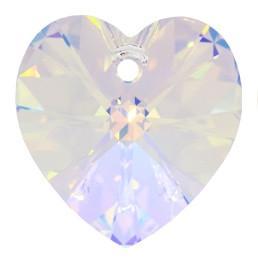 # 6228/6202 - 10.3x10mm Swarovski Crystal Heart Pendant - Crystal AB