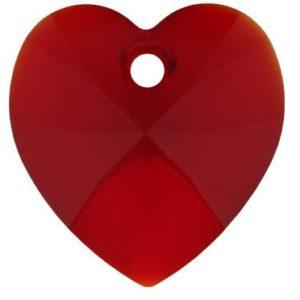 # 6228/6202 - 10.3x10mm Swarovski Crystal Heart Pendant - Siam