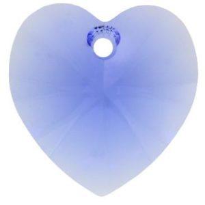 # 6228/6202 - 10.3x10mm Swarovski Crystal Heart Pendant - Sapphire