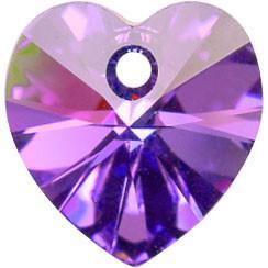 # 6228/6202 - 10.3x10mm Swarovski Crystal Heart Pendant - Heliotrope
