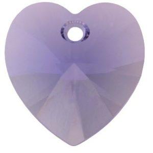 # 6228/6202 - 10.3x10mm Swarovski Crystal Heart Pendant - Tanzanite
