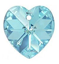 # 6228/6202 - 14.4x14mm Swarovski Crystal Heart Pendant - Aquamarine