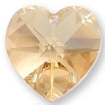 # 6228/6202 - 14.4x14mm Swarovski Crystal Heart Pendant - Golden shadow