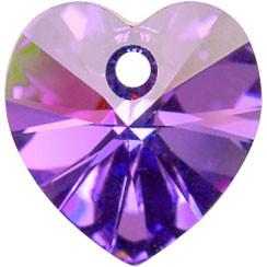 # 6228/6202 - 14.4x14mm Swarovski Crystal Heart Pendant - Heliotrope