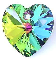 # 6228/6202 - 14.4x14mm Swarovski Crystal Heart Pendant - Vitrail Medium
