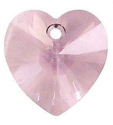 # 6228/6202 - 14.4x14mm Swarovski Crystal Heart Pendant - Lt. Amethyst