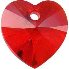 # 6228/6202 - 14.4x14mm Swarovski Crystal Heart Pendant - Lt. Siam