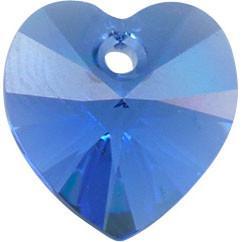 # 6228/6202 - 14.4x14mm Swarovski Crystal Heart Pendant - Sapphire