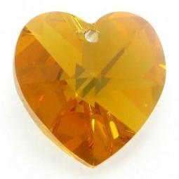 # 6228/6202 - 14.4x14mm Swarovski Crystal Heart Pendant - Topaz