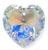 # 6215 - 18mm Swarovski Crystal Heart Pendant - Crystal AB