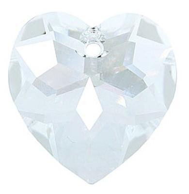 # 6215 - 18mm Swarovski Crystal Heart Pendant - Crystal