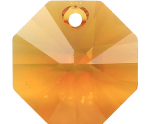 # 6401 - 8mm Swarovski Octagon Pendant - Topaz