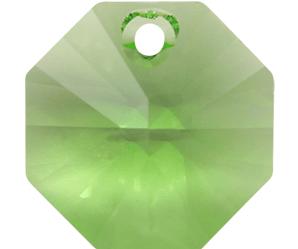 # 6401 - 8mm Swarovski Octagon Pendant - Peridot