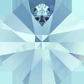 # 6401 - 12mm Swarovski Octagon Pendant - Aquamarine