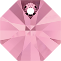 # 6401 - 12mm Swarovski Octagon Pendant - Light Rose