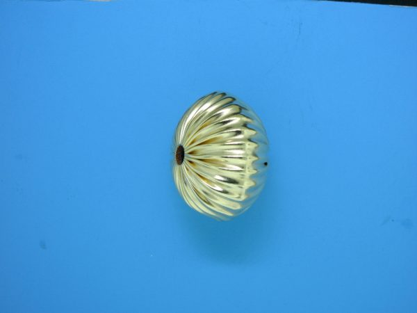 87 - 22mm Gold Filled Straight Corrugated Round Saucer Bead (Rondelle)
