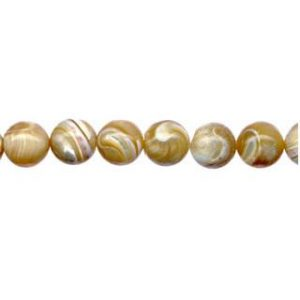 9100 - 4mm Mother Of Pearl (Natural) - 16'' Strand
