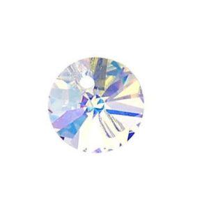 6200/6428 - 8mm Swarovski Rivoli Pendant - Crystal AB