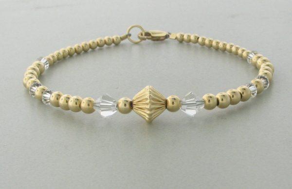12001 - 14K Gold filled Bracelet With Swarovski Crystal