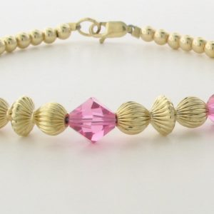 12002 - 14K Gold filled Bracelet With Swarovski Crystal
