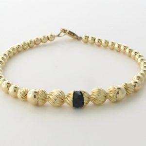 12003 - 14K Gold filled Bracelet With Swarovski Crystal