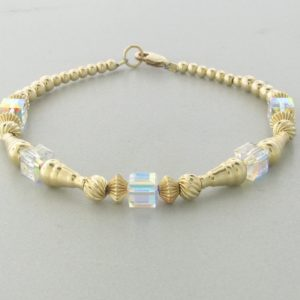 12004 - 14K Gold filled Bracelet With Swarovski Crystal