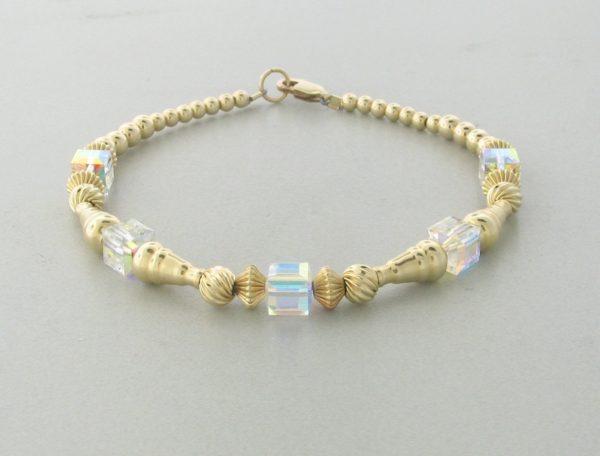 12004 - 14K Gold filled Bracelet With Swarovski Crystal