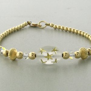 12005 - 14K Gold filled Bracelet With Swarovski Crystal