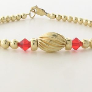 12006 - 14K Gold filled Bracelet With Swarovski Crystal