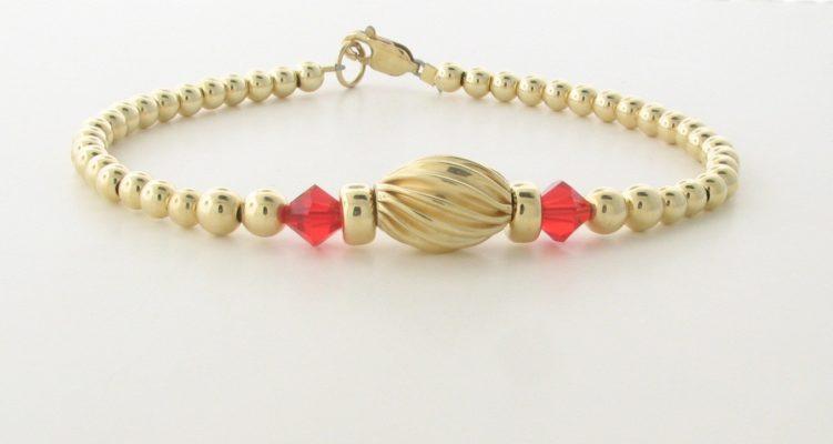 14K Gold filled Bracelet With Swarovski Crystal
