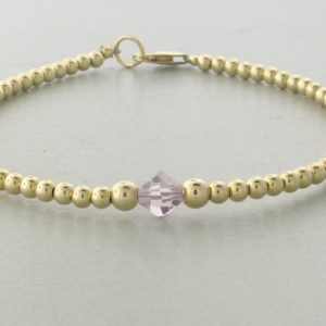 12007 - 14K Gold filled Bracelet With Swarovski Crystal