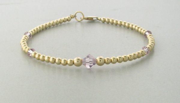 12007 - 14K Gold filled Bracelet With Swarovski Crystal